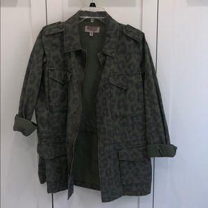 Urban Outfitters army green cheetah print jacket